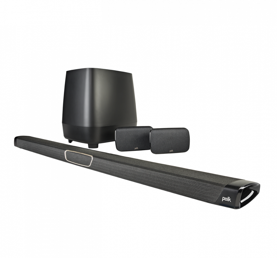 Polk Audio MagniFi Max SR Home Theater Sound Bar and Wireless Rear Surround Sound System - Safe and Sound HQ
