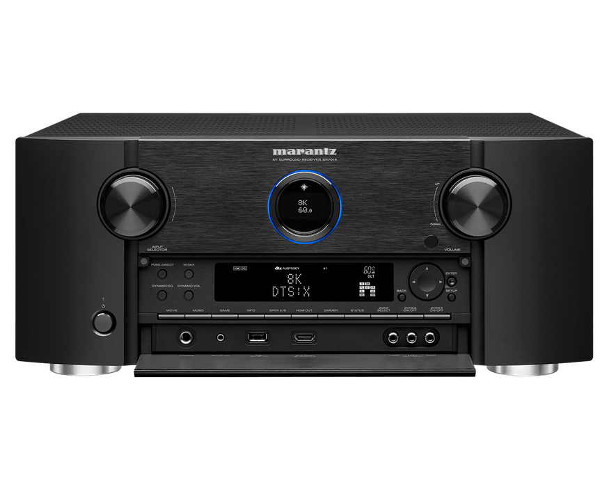 Marantz SR7015 9.2 Channel 8K AV receiver with 3D Audio, HEOS, and Voice Control - Safe and Sound HQ