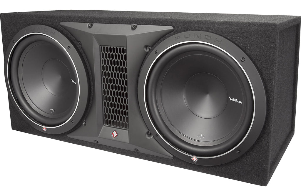 "Rockford Fosgate P1-2X12 Punch Dual P1 12"" Loaded Enclosure - Safe and Sound HQ"