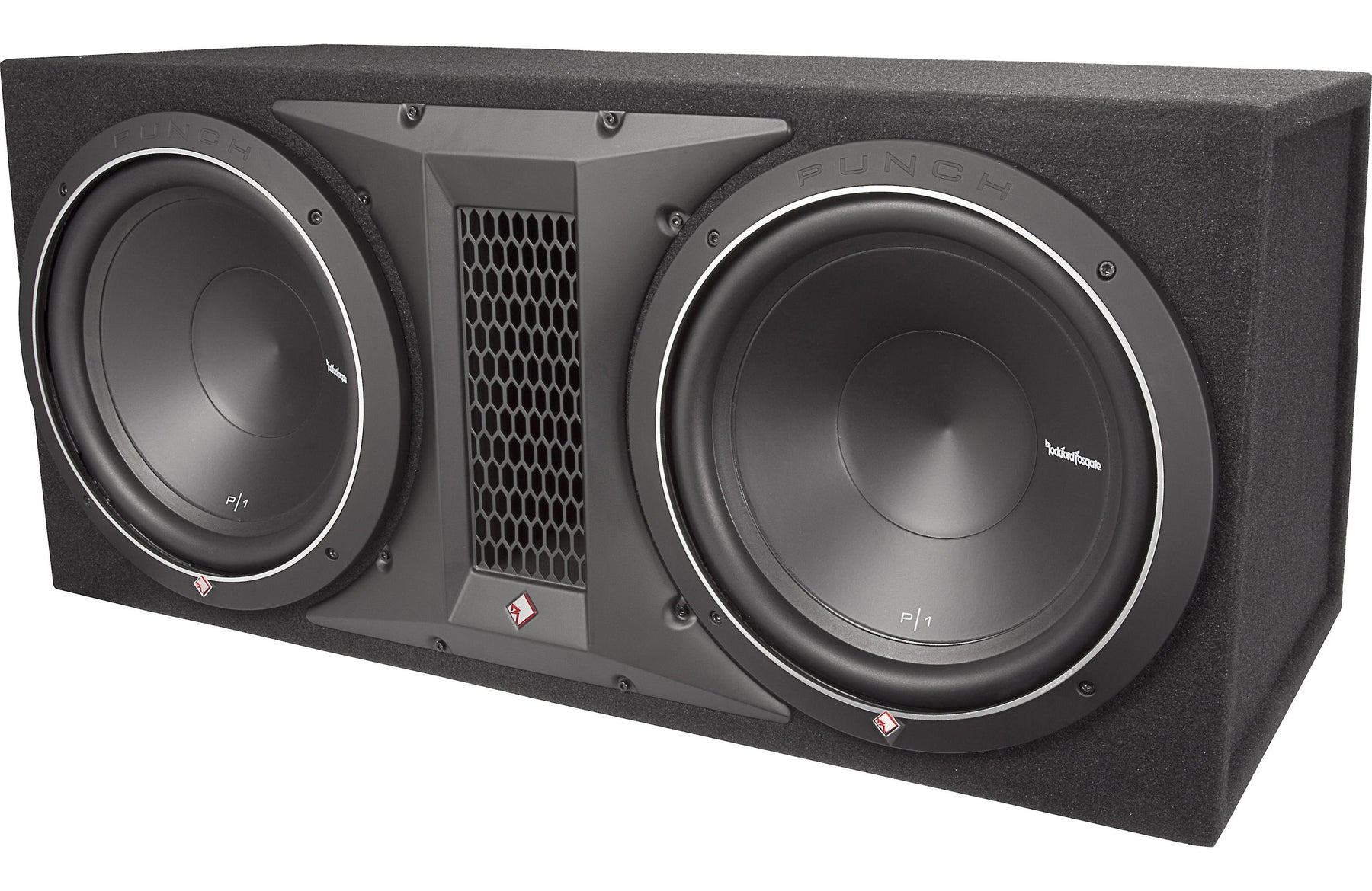 rockford fosgate p1 2x12 punch dual p1 12 loaded. Black Bedroom Furniture Sets. Home Design Ideas