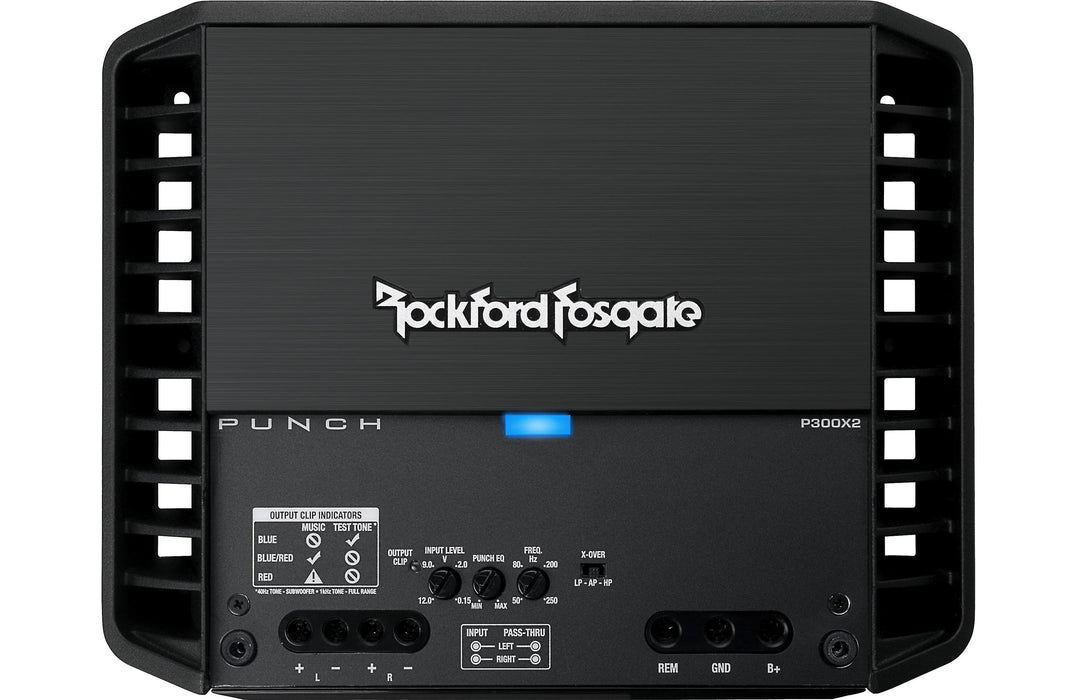 Rockford Fosgate P300X2 Punch 300 Watt 2 Channel Amplifier - Safe and Sound HQ