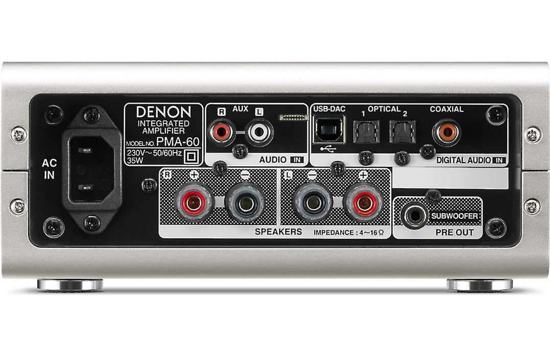 Denon PMA-60 Integrated Stereo Amplifier with DAC and Bluetooth - Safe and Sound HQ