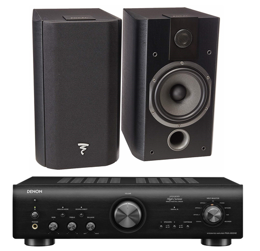 Focal Chorus 605 Bookshelf Speakers (Pair) and Denon PMA-800NE Integrated Amplifier Bundle - Safe and Sound HQ