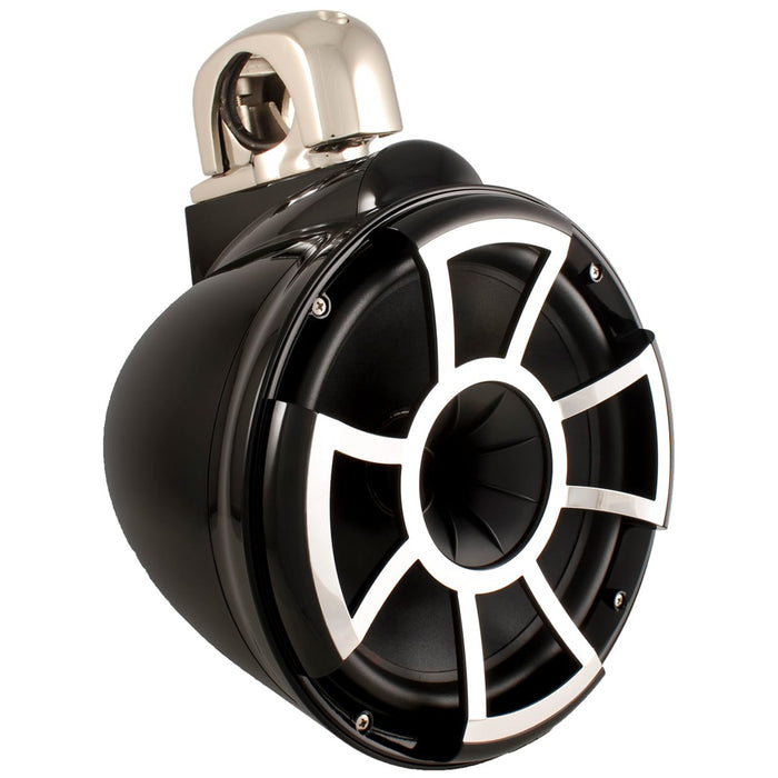 "Wet Sounds REV 10 B-FC V2 MINI REV Series 10"" Black Tower Speaker with TC3 Mini Fixed Clamps (Pair) - Safe and Sound HQ"