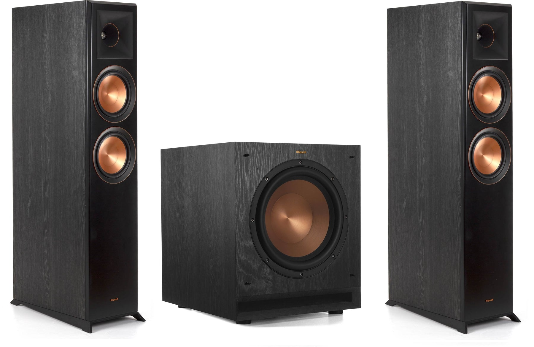 "Klipsch RP-6000F Reference Premiere Floorstanding Speakers Pair and Klipsch SPL-100 10"" Powered Subwoofer Bundle - Safe and Sound HQ"