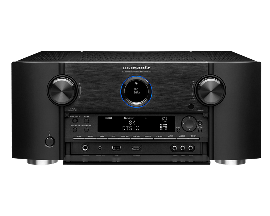 Marantz SR8015 11.2 Channel 8K AV receiver with 3D Audio, HEOS, and Voice Control - Safe and Sound HQ