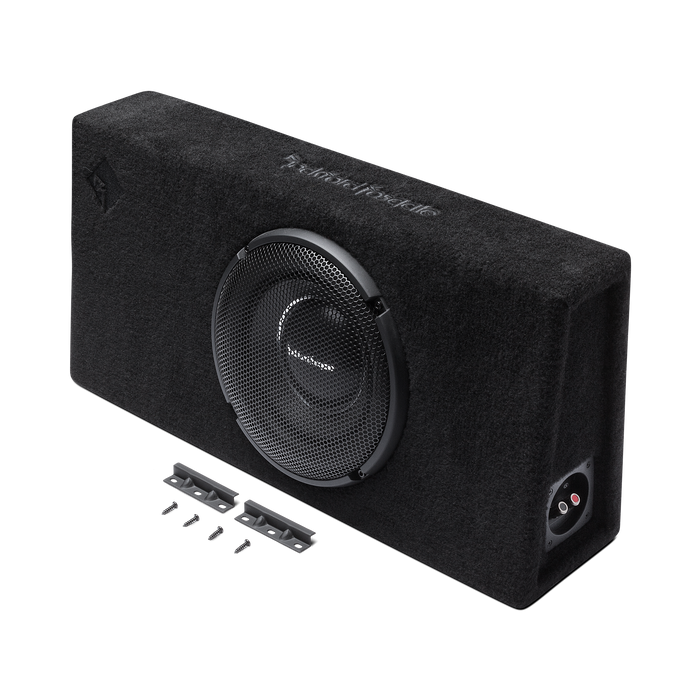 "Rockford Fosgate T1S-1X10 Power Single 10"" T1 Slim Sealed Loaded Enclosure - Safe and Sound HQ"