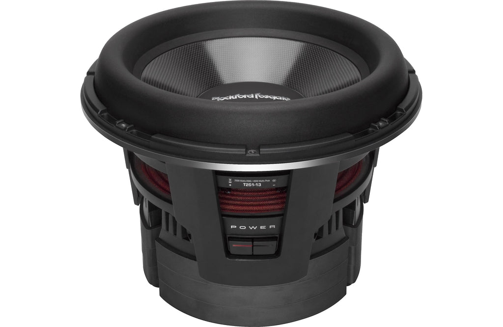 "Rockford Fosgate T2S1-13 Power 13"" T2 Single 1-Ohm Subwoofer - Safe and Sound HQ"