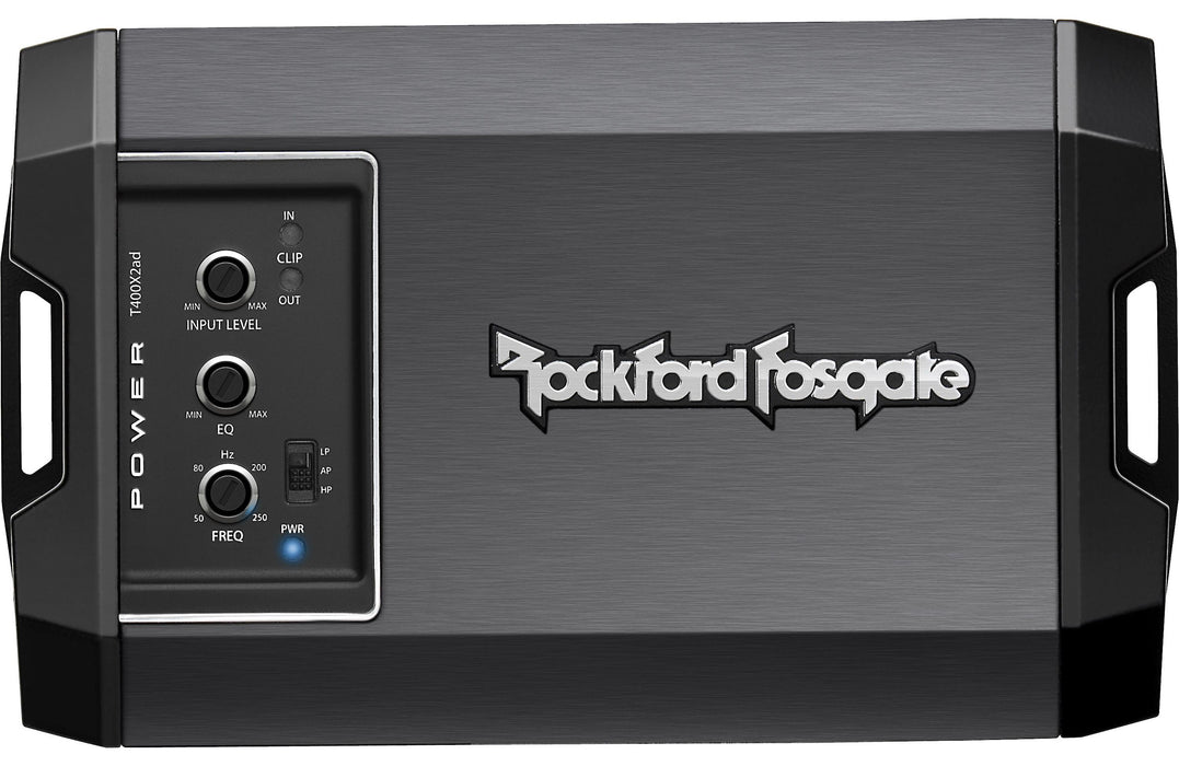 Rockford Fosgate T400X2AD Power 400 Watt Class-AD 2 Channel Amplifier - Safe and Sound HQ