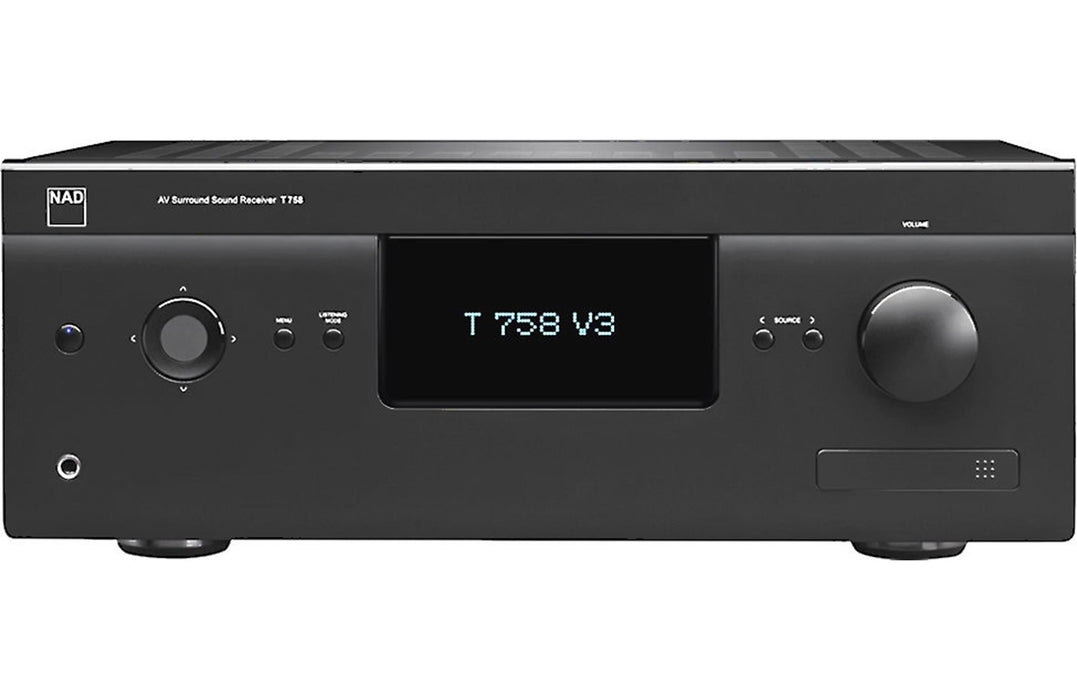 NAD Electronics T 758 V3 7.1 Channel A/V Surround Sound Receiver Factory Refurbished - Safe and Sound HQ