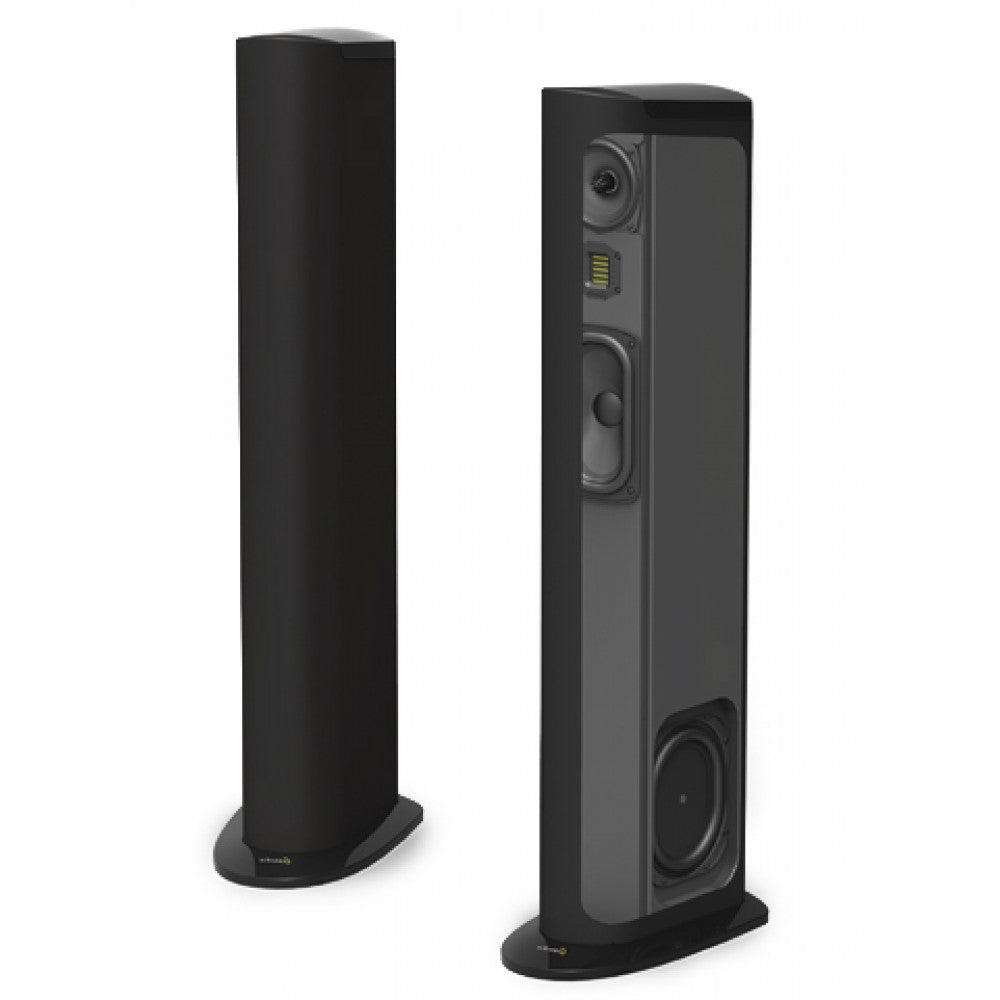 GoldenEar Triton Three+  Floorstanding Tower Loudspeaker with Built-In 800 Watt Powered Subwoofer (Each) - Safe and Sound HQ
