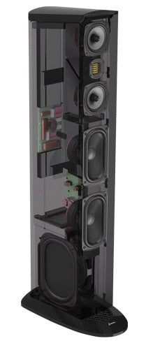 GoldenEar Triton Two+  Floorstanding Tower Loudspeaker with Built-In 1200 Watt Powered Subwoofer (Each) - Safe and Sound HQ