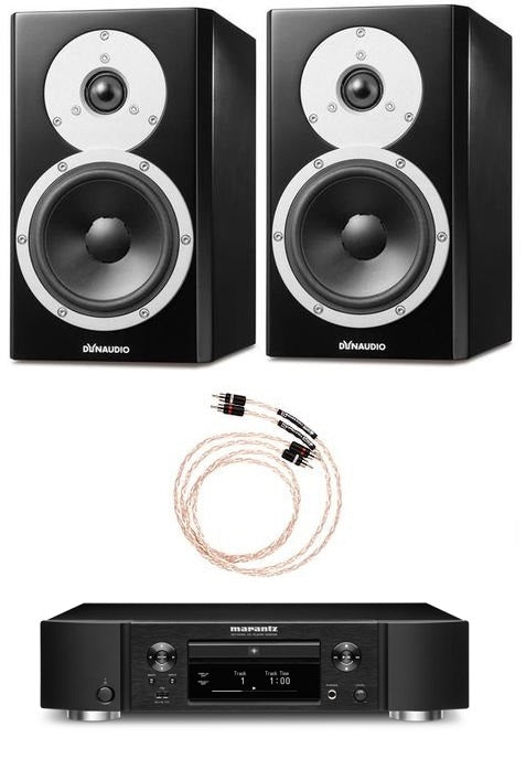 Dynaudio Excite X14A Powered Bookshelf Pair and Marantz ND8006 Digital Music Streamer Bundle - Safe and Sound HQ