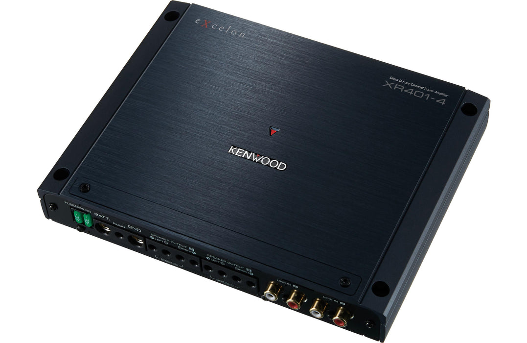 Kenwood Excelon XR401-4 XR Series Class D 4 Channel Power Amplifier - Safe and Sound HQ