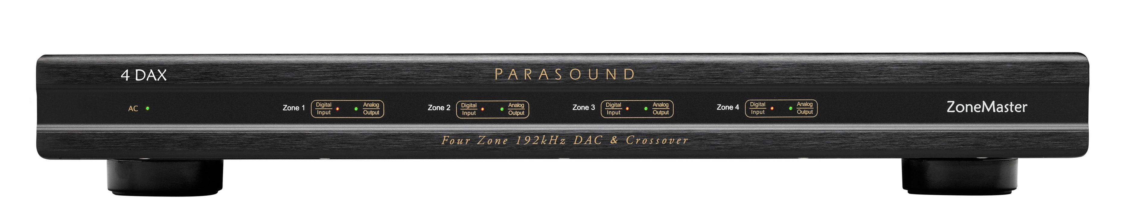 Parasound ZoneMaster 4 DAX  Four Zone 192kHz 24bit DAC and Crossover B-Stock Full Warranty - Safe and Sound HQ