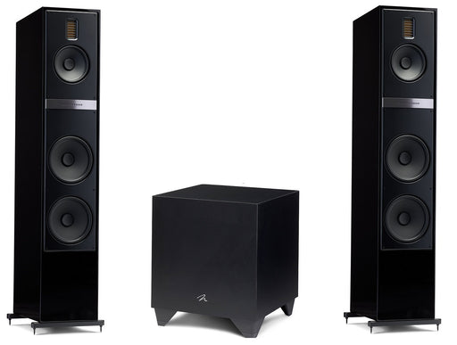 "Martin Logan Motion 60XTi Floorstanding Speakers Pair and Dynamo 600X Powered 10"" Subwoofer Bundle - Safe and Sound HQ"