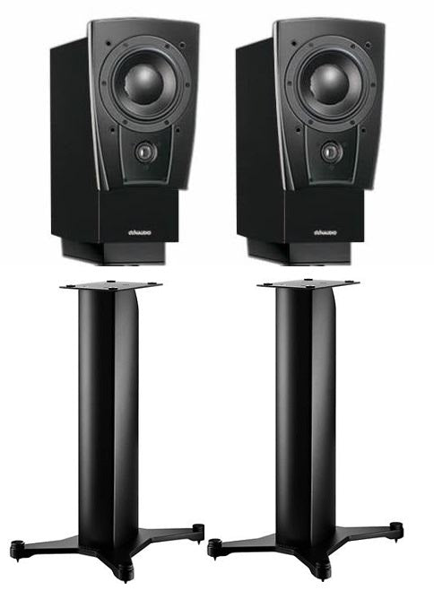 Dynaudio Confidence C1 Platinum Bookshelf Speakers and Stand 20 Black Satin Stands (Pair) - Safe and Sound HQ