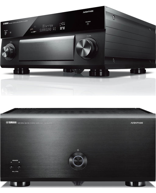 Yamaha CX-A5200 Aventage 11 Channel AV Preamplifier and Yamaha MX-A5000 Power Amplifier Bundle - Safe and Sound HQ
