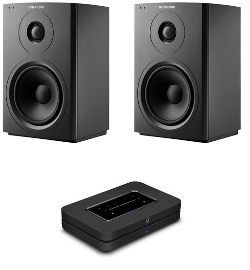 Dynaudio Xeo 10 Active Wireless Hi-Fi Speakers (Pair) and Bluesound Node 2i Music Streamer Bundle - Safe and Sound HQ