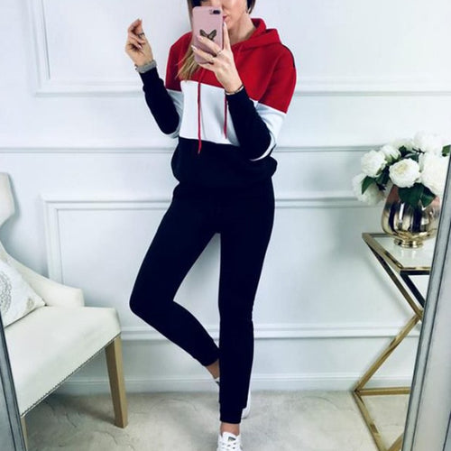 Laura Plus Size Women Tracksuit set Long Sleeve With Hat Tops Slim Pants 2 Piece Set Workout Sporty Suit Set Sweatwear Female