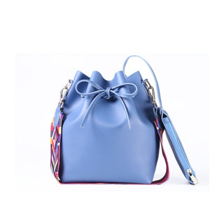 Malita Women bag with Colorful Strap Bucket Bag Women PU Leather Shoulder Bags Brand Designer Ladies Crossbody messenger Bags
