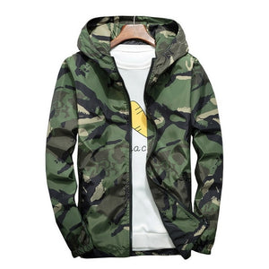 Kings ready for whatever lus Size 5XL 6XL 7XL Camouflage Jacket Men Bombers Military Mens Hooded Windbreaker Large Size Men's Jacket ,DA569