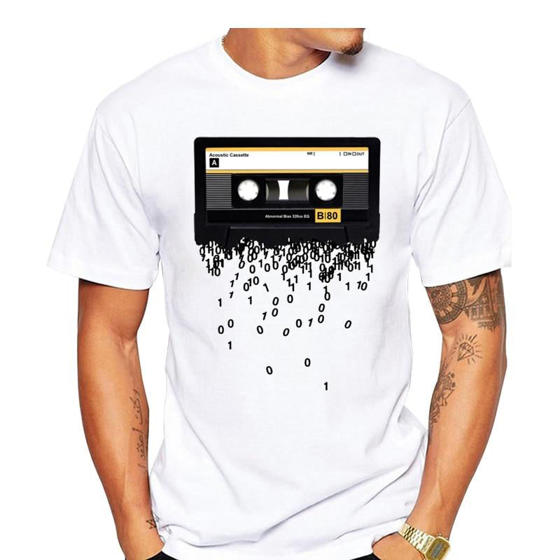 Funny Retro cassettes Printed T-Shirt