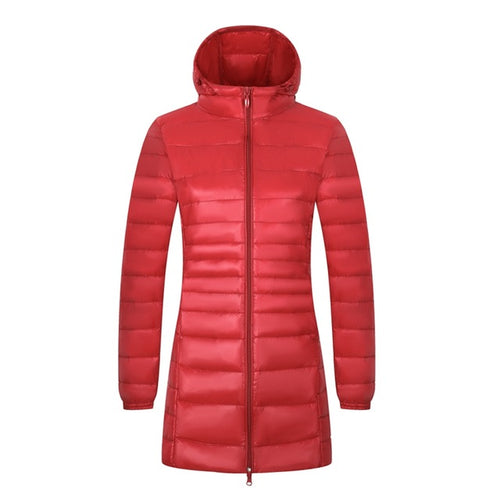 New New 6XL 7XL 8XL Plus Size Down Coat Female Long Winter Ultra Light Down Jacket Women Hooded Feather Jacket Warm Coat
