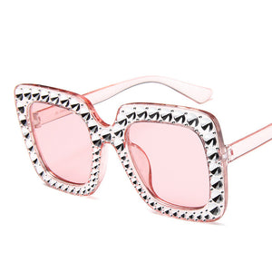 Rhinestone Luxury Brand Designer Sunglasses for Women