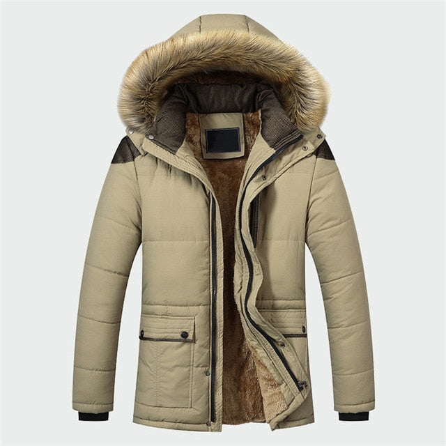 New Look Winter Jacket Men Clothing Fashion Casual Slim Thick Warm Mens Coats Parkas  Hooded Long Overcoats Male Clothes ML026
