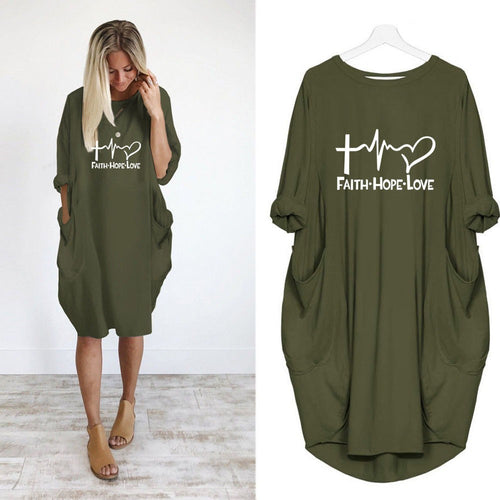New Fashion shirts Fashion Faith Hope Love Letters