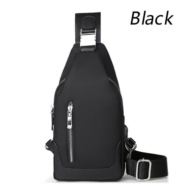 Men's Messenger bag shoulder Bags Man USB charging