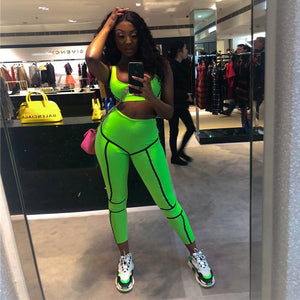 two piece set tracksuit women 2019
