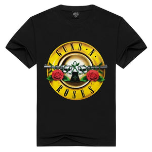 Unisex  Guns N' Roses t shirt Fashion guns n roses Tshirts Summer Tops Tees T-shirt Men loose t-shirts Plus Size