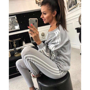 Cool Girl 2019 New 2Pcs Ladies Tracksuit Crop Hoodies Sweatshirt Leisure Wear Casual