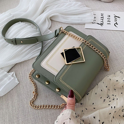 Bella Pu Leather Crossbody Bags For Women Shoulder Messenger Bag Special Lock Design