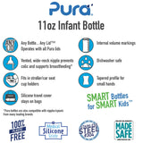 Pura Stainless Steel Infant Bottle 11 oz - New Baby New Paltz