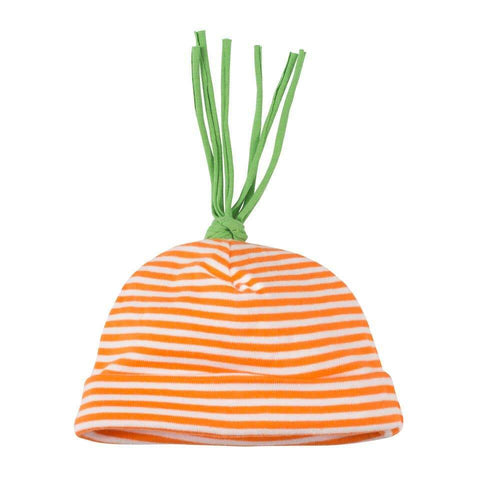 Under The Nile Carrot Stripe Beanie - New Baby New Paltz
