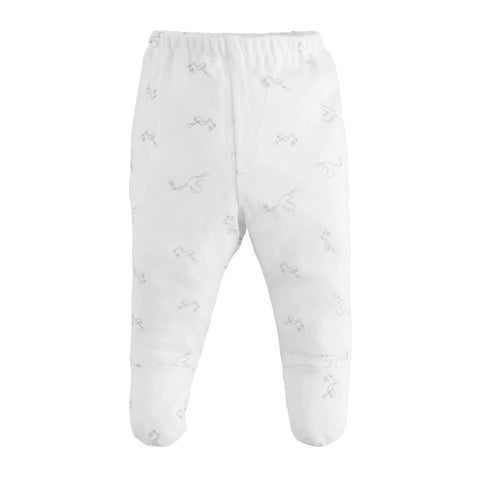 Under The Nile Footed Pants - Stork Print - New Baby New Paltz