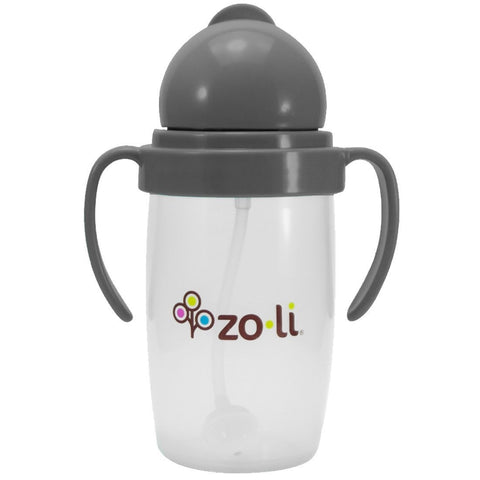 ZoLi BOT 2.0 Straw Sippy Cup - Grey - New Baby New Paltz