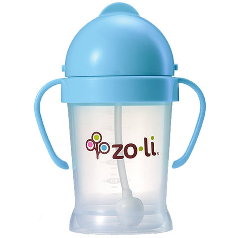 ZoLi BOT Straw Sippy Cup - Blue - New Baby New Paltz