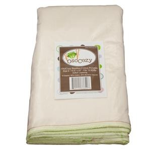 OsoCozy Regular Bamboo Cotton Prefolds 6 pk