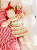 Under the Nile Jill Waldorf Dress Up Doll - Multicolor Stripe Soft Cotton