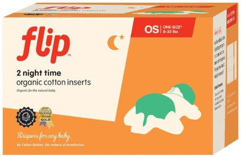 Flip Organic Night Time Cotton Prefold Inserts - New Baby New Paltz