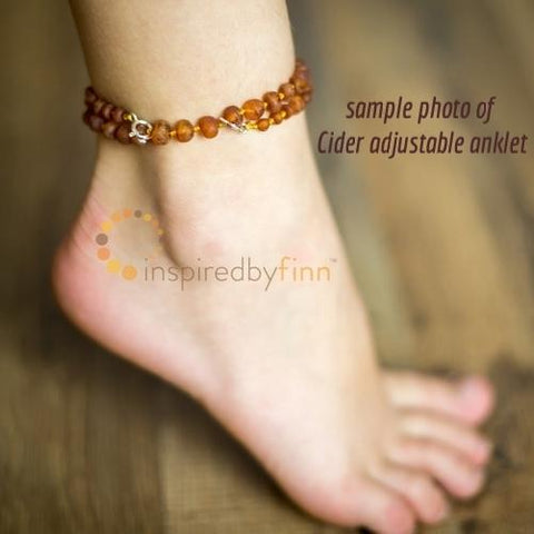 Inspired By Finn Baltic Amber Anklet 11""