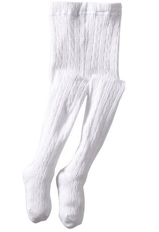 Jefferies Cable Knit Tights White - New Baby New Paltz