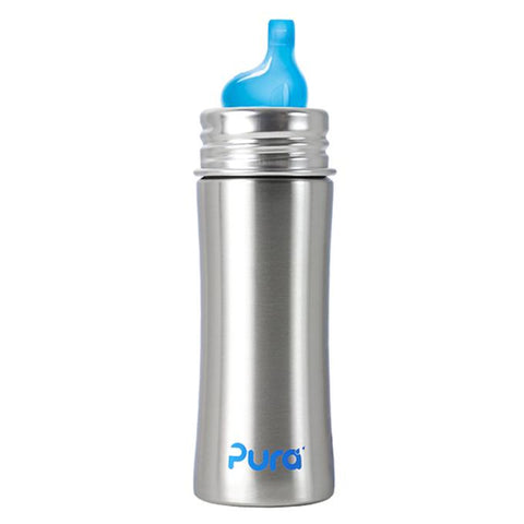 Pura Stainless Steel Sippy Bottle 11 oz - New Baby New Paltz