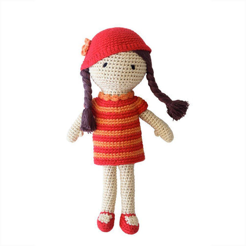 Cheengoo Amelia the Hand Crocheted Doll - New Baby New Paltz