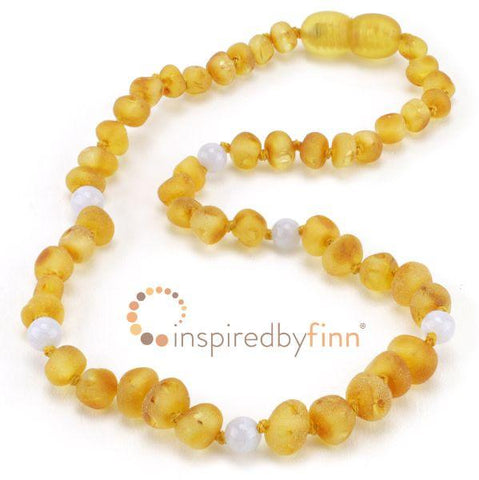 Inspired By Finn Baltic Amber Necklace 13-14""