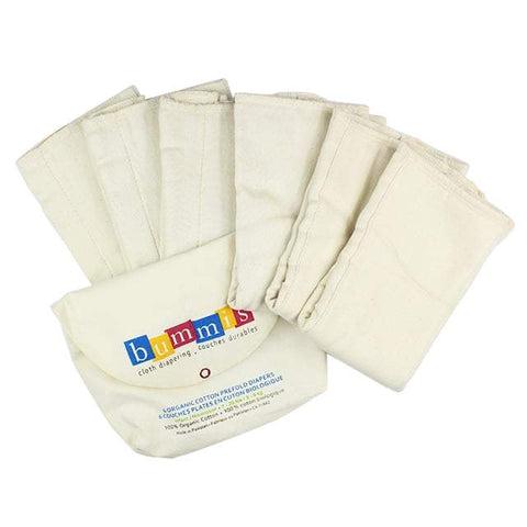 Bummis Organic Cotton Prefolds 6 pk